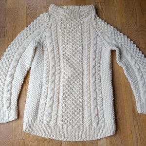 Sweaters - Pure Welsh Wool Sweater Size M Off White color